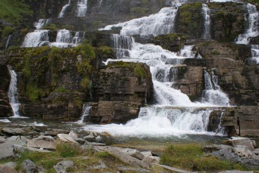 Waterfall Norway by Seluias-stock