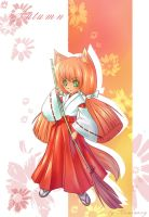 Kitsune colored by kaminary-san