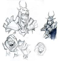 WoW: Undead Sketchies by Aleana