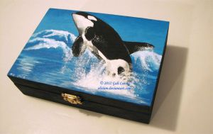 Commissioned Orca Wood Box v.1 by Olvium