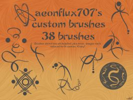 CustomBrushes_preview_aeonflux by aeonflux707