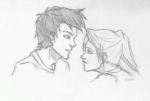 Percy and Annabeth by icyreiatsu