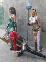 Akali Katarina and Janna League of Legends Cosplay by TinyMageIvriniel