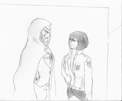 Attack on Titan: Mikasa and Randal Von Doom by Omnipotrent