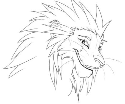 axel lion by hibbary