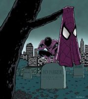 Spiderman crying by Ullcer