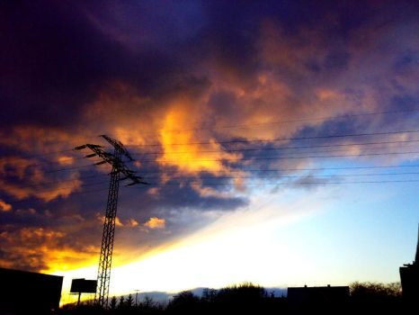 Winter Sunset by azrian