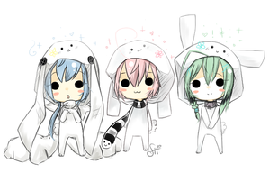 - white bunnies - by hinata-hime