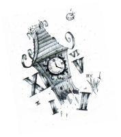 Somewhere in time-clock tower- by mellon