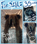 FOR SALE Bear Hat! by PyroWolfDemon