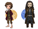 The Hobbit: Bilbo and Thorin by Angels-Leaf