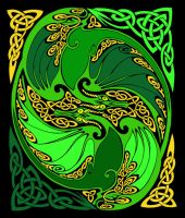 Celtic Dragon by dragonfirelight