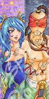 Sona and Lee Sin Bookmark by SpigaRose