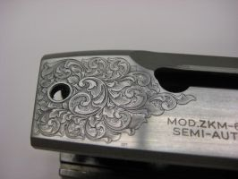 Scrollwork on 22Mag rifle by IMorrison