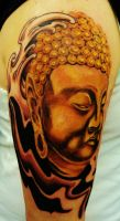 buddha tattoo by zack chiswell from Family Ink by zack-chiswell
