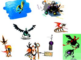 Iscribble doodle dump 2 by DragonFiresongs