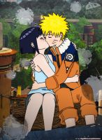NaruHina First Kiss by alucardvx