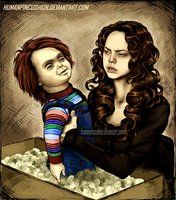 Curse of Chucky -- Nica and Chucky by HumanPinCushion