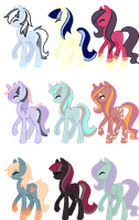 More Pony Adopts (3/9 Open) by FinalSmashPony
