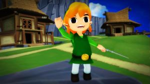 [MMD] Link on Outset Island by MewMewKittyMewMew