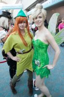 Peter Pan + Tinker Bell by gottabekittenme