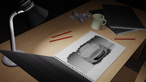 3DS Max: Animated Photo Album WIP by Terror-Inferno