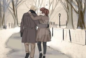 Winter walk by luiganddaisy