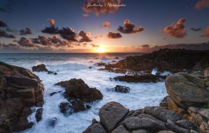 Sunset a la Pointe du Chatelet by gaelboulay