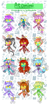 [Adopts]: Atomini Batch 3 [REDUCED Set Price] by TheShatteredParadox