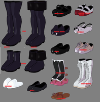 3DCG Default Shoes by MMDxDespair