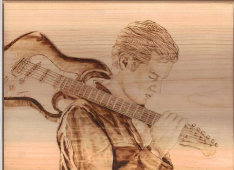 James Marsters Pyrography by wickedtiger86