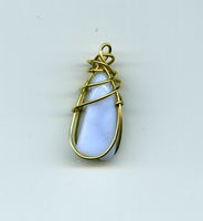 blue agate pendant by windbladeicepuppy