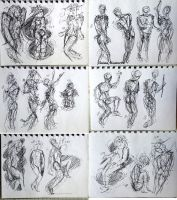 276 - 296 (1000 gesture drawing challenge) by anime-master-96