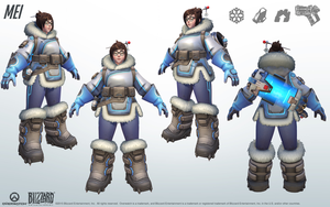 Mei - Overwatch - Close look at model by PlanK-69