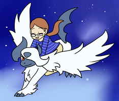 Mega Absol ride by Sixala