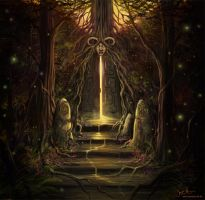 The Forest Shrine by jerry8448