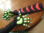 Dragon paw Arm Warmers! by AmericanBlackSerpent