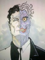 Two-Face Commission by ChrisOzFulton
