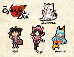 OKAMIDEN CHARMS by MaeMaeTwin