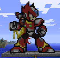 Minecraft Zero Statue by myvideogameworld