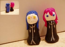 Saix and Marluxia Figures :D by ICannotDrawToSaveMe