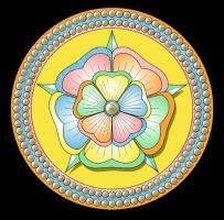 Mandala180 - Mother-of-Pearl by LisaJStalnaker