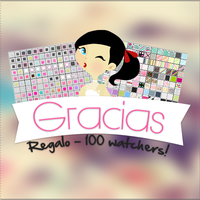 REGALO DE MIS 100 WATCHERS. by HillyTutorials