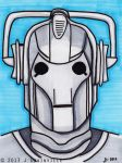 Day 23 Cyberman Small WM by jdrainville