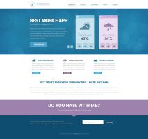 Free PSD Website Design for download with subpage by tempeescom