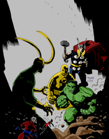 The Avengers by Mike Mignola by LittleOrphanAwesome
