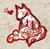 Okami Cloud Puppy by MeganTheartist