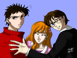 OCs Ken, Michelle, and Hank by PhiMouse