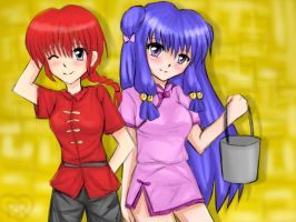 Ranma and Shampoo by Rozala