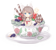Teacup Chibi Cottonee by Cottoneeh
